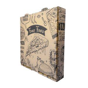 جعبه پیتزا ایفلوت چاپی