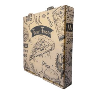 جعبه پیتزا سه لایه خام 1