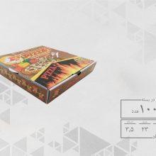 جعبه پیتزا تک نفره 23 چهار رنگ عمومی (100عددی) کد 1