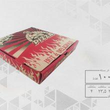 جعبه پیتزا تک نفره 24 دو رنگ عمومی (100عددی) کد 1