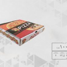 جعبه پیتزا تک نفره 24 چهار رنگ عمومی (100عددی) کد 2