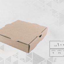 جعبه پیتزا دو نفره 27 بدون چاپ (100عددی)