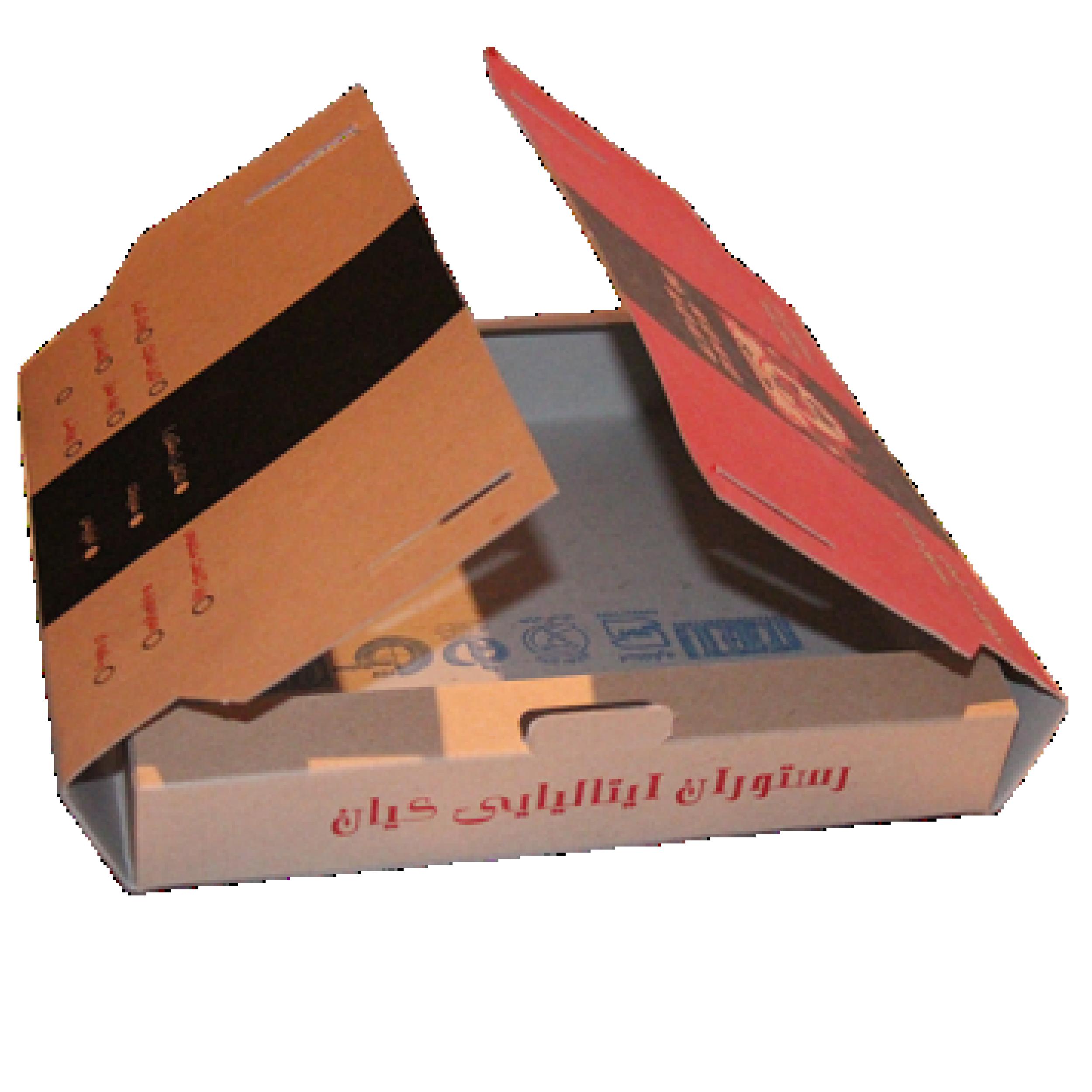 جعبه پیتزا دسته دار 0۱ - جعبه پیتزا - تولید کننده جعبه پیتزا ارزان و با کیفیت