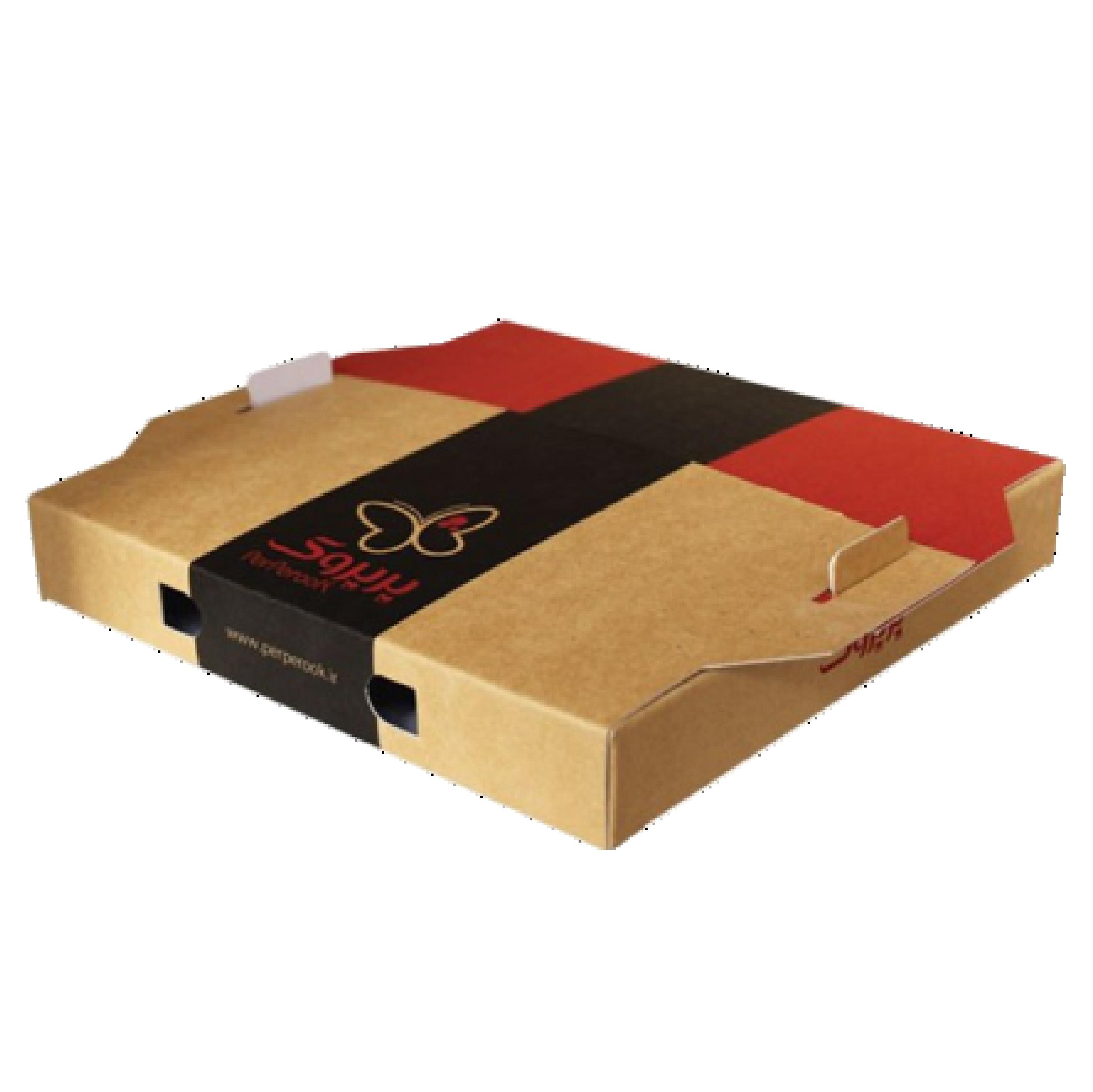 جعبه پیتزا دسته دار 0۲ - جعبه پیتزا - تولید کننده جعبه پیتزا ارزان و با کیفیت