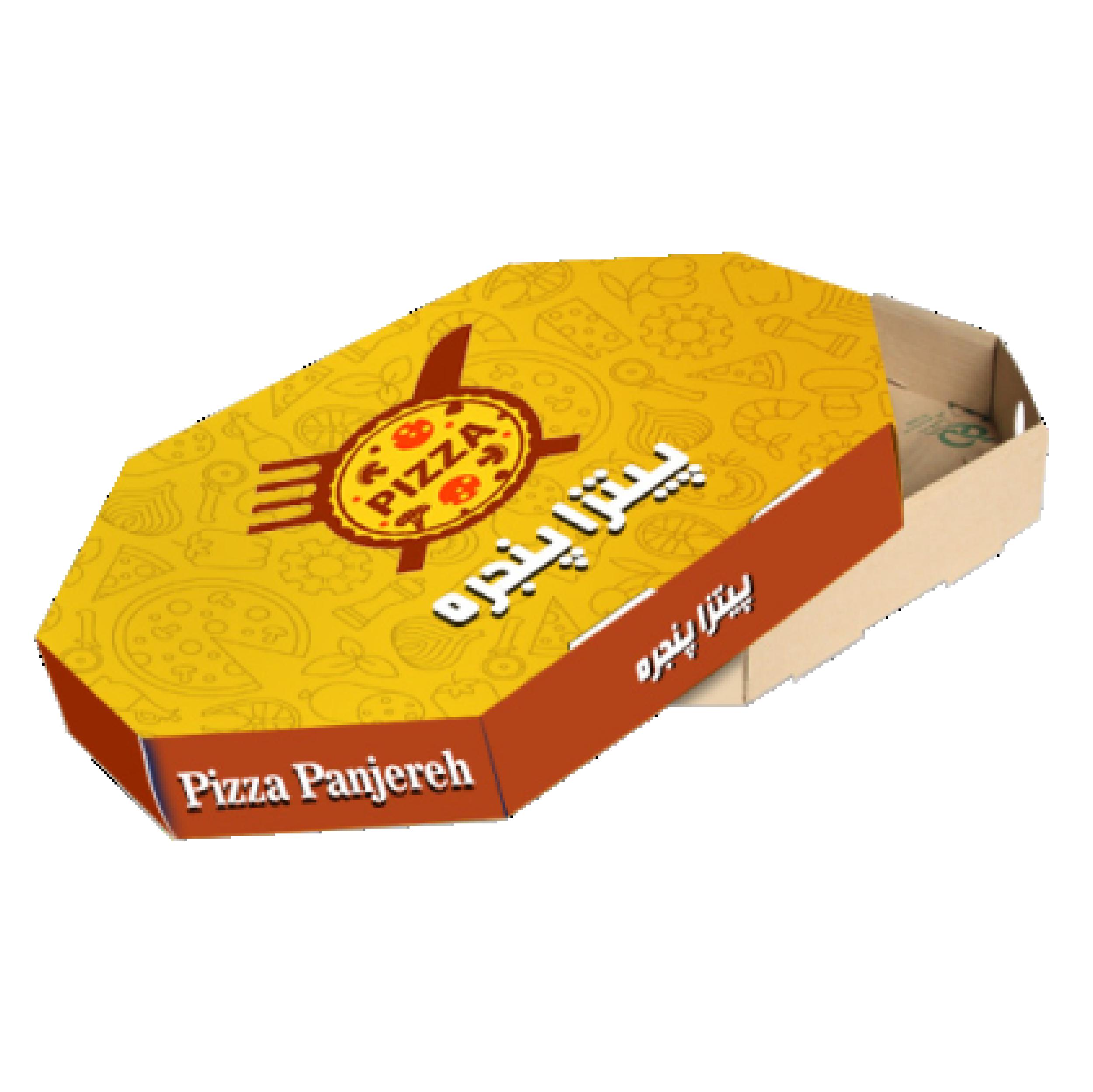جعبه پیتزا هشت ضلعی 0۲ - جعبه پیتزا - تولید کننده جعبه پیتزا ارزان و با کیفیت